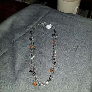 SIlpada oxidized sterling silver necklace N1613